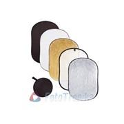 Отражатель 5-in-1 (100*150cm) gold-silver-BLACK-white-translucent фото
