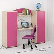 Детская комната Легенда 17 венге светлый/розовый фото
