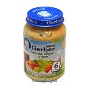 Пюре Gerber 190г виноград, яблоко с творогом с 6мес фото