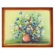 """Натюрморт """"Полевые цветы"""" багет дерево 36х46 см фото"""