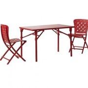 Комплект пластиковой мебели Set Zic-Zac Spring with Extra Kit, 3 пр, красный, Nardi, Set Zic-Zac Spring фото