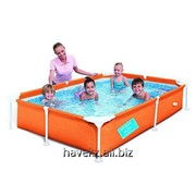Детский каркасный бассейн фирмы Bestway 56220 My First Frame Pool, (239х150х58см) фото