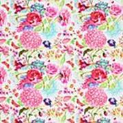 "Упаковочная бумага ""Цветы с птичкой"" 70х100 см., 80 г/м2, УБ 4588 фото"
