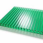 Сотовый поликарбонат 4 мм зеленый Novattro 2,1x6 м (12,6 кв,м), лист фото
