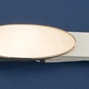 Ремень Р-2 белый с золотой пряжкой фото