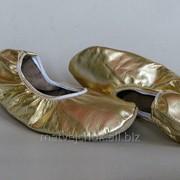 """Балетки кожаные. Модель """"Belli Dance Gold"""". фото"""