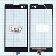 Сенсорное стекло (тачскрин) для Sony Xperia C3 / C3 Dual черное, Диагональ 5.5 фото