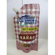 Сгущ. молоко с КАКАО Молочная страна дойпак.270гр*12 фото