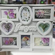 Фоторамка I Love You 8 фото белая фото