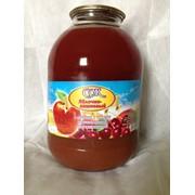 Сок яблочно–вишневый с мякотью, 3 л фото