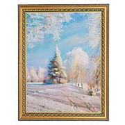 """Картина """"Зимний день"""" багет 34х44 см РР8 фото"""