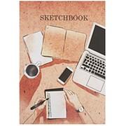 """Скетчбук Миленд """"Я в кофешопе"""", А5, 48 листов, КБС, глянц. ламин., С48-9000 фото"""