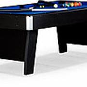 Бильярдный стол для пула Riga 8ф (черный) ЛДСП в комплекте аксессуары фото