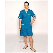 Халат медицинский женский модель 198 Х, ткань Поплин смесовая фото