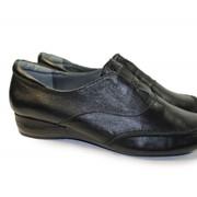 Кожаные туфли без каблука фото
