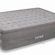 Двухспальный надувной матрас Intex 66958 - 152х203х46 См, серый фото