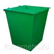 Контейнеры и баки для мусора с крышкой 0,75м3 фото