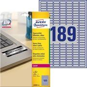 Этикетки Avery Zweckform серебристые, полиэстерные, 25,4 x 10 мм, L, 3780 штук, 20 листов Серебристый фото