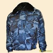 Куртка зимняя П-1 ткань Woodland синий фото