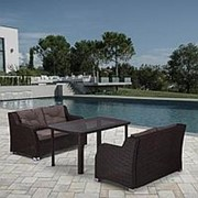 Комплект плетеной мебели T51A/S51A-W53 Brown фото