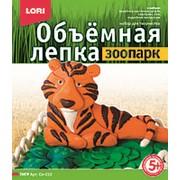 """Объемная лепка пластилином LORI """"Тигр"""", картон. уп., Ол-010 фото"""