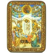 Подарочная икона Успение Пресвятой Богородицы на мореном дубе фото