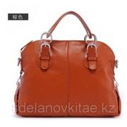 Модная женская сумка кожанная, большого размера, три цвета фото