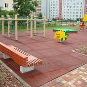 Изготовление резиновой плитки для детских площадок фото
