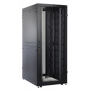 Шкаф серверный ПРОФ напольный 42U (800x1200) дверь перфор. 2 шт., черный, в сборе фото
