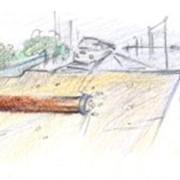Динамическая забивка стальных труб фото