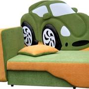 Дитячий диван Зелений автомобіль фото