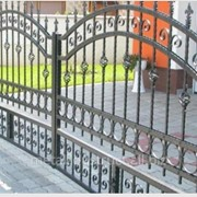 Ворота кованые Серебро №18 фото