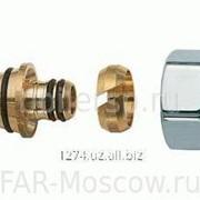 Концовка для металлопластиковых труб 20х2, гайка-серебро, артикул FL 0430 80204 фото