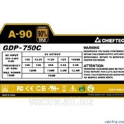 Блок питания Chieftec RETAIL A-90 GDP-750C,14cm fan,24+8,3xPeripheral,8xSATA,4xPCIe,modular фото