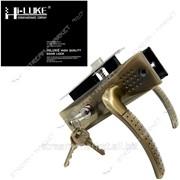 Замок врезной HI-Luke S16Z (Бронза) (Ручка на планке , секрет с поворотником, 3 англ. кл.) №315020 фото
