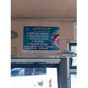 Реклама внутри автобусов, трамваев, троллейбусов, метро Кривой Рог фото