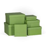 "Коробка подарочная ""Зелёное яблоко"", квадратная, 190х190х90 мм, 4329 фото"