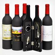 Винный набор в бутылке фото
