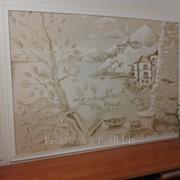 Лепнина и роспись стен в интерьеру на заказ фото