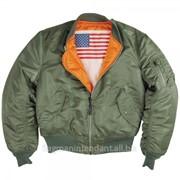 Мужская куртка цвета хаки фото