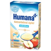 Каша Humana б/м кукурузно-рисовая с яблоком 200г (с 6мес) фото