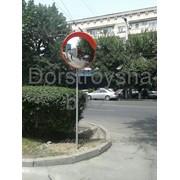 Зеркало дорожное D600мм с защитным козырьком фото
