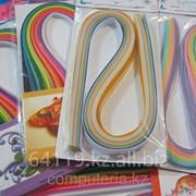 Бумага для квиллинга, резанная разных цветов фото