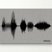 Картины из звука на немецком Холсте Grey and Black фото