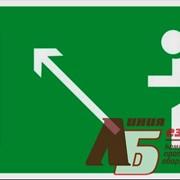 Знак код E06 Направление к эвакуационному выходу налево вверх фото