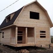 Сруб Дома из бруса  6 × 8 установка за 10 дней фото