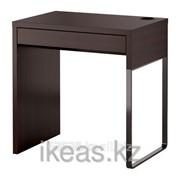 Письменный стол черно-коричневый МИККЕ фото