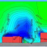 Компьютерное моделирование аэродинамических воздействий на элементы ограждений высотных зданий фото