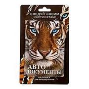 """Обложка для автодокументов """"Тигр"""" фото"""