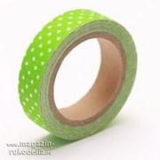 Скотч тканевый цвета Свежей зелени фото